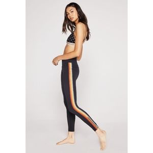 Spiritual Gangster Rainbow Track Tights Zip 1585